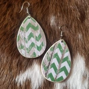 Handcrafted Chevron Earrings
